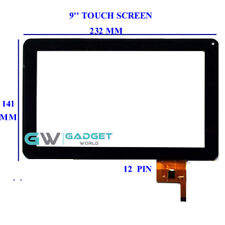 """Touch Screen Digitizer 9"""" Replacement For CNM TouchPad 9 and Versus Touchtab 9"""