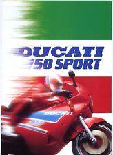 Ducati 750 Sport brochure Prospekt, 1989
