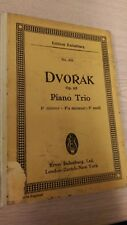 Dvorak: Piano Trio, F Minor, Op 65, No 331: Pocket Music Score