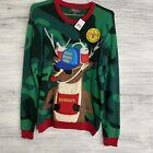 33 Degrees ugly Christmas Sweater Sz Small camo 3D Pocket Brewdolph Santas Squad