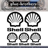 SHELL Aufkleber 5-teilig Farbauswahl Motorrad Bike Sticker Dekor Decal Tank Öl