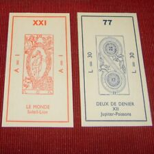 Ancien Tarot de Marseille Muchery jeu de carte divinatoire Fortune Telling Card