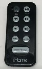 iHome Black Remote Control OEM for iPhone/iPod Dock Alarm Clock Radio w Battery