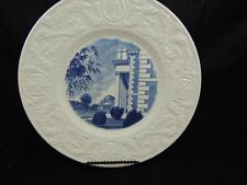 Wedgwood Duke University Collector Plate Union and Auditorium 1925