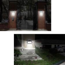 12 LED Solar Luz de Pared Doble Cabeza PIR Sensor de Movimiento Lámpara Exterior