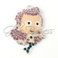 47*33mm The Bubble Guppies Rhinestone Pendant For Bubblegum Chunky Bead Necklace