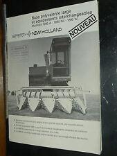 Prospectus Cueilleur Mais SPERRY NEW HOLLAND  Tracteur brochure traktor trattore