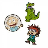 Nickelodeon Official RUGRATS Set of 3 Pins Pinbacks Lapel Tommy Chucky Reptar