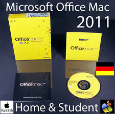 Microsoft OFFICE MAC 2011 Home and Student 1 MAC Versione Completa BOX + DVD OVP