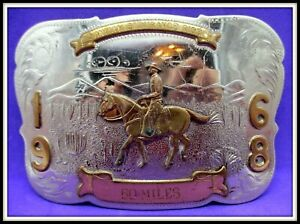1968 60 MILES SANTAIN ENDURANCE RIDE Trophy Western BELT BUCKLE