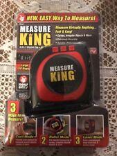 Measure King As Seen OnTV 3-in-1 Digital TapeMeasure Plastic/Metal/LCD  - NIP
