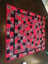 Texas Tech king size quilt