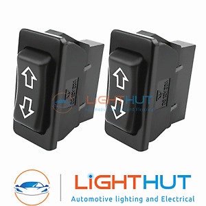 2 x 12V 20A Universal Electric Window Switches Switch Car Van Aerial Push Fit