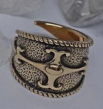 verstellbar Gr.60-71 Keltenring keltischer Ring Bronze Gallier Schutzschild cr19