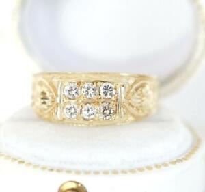 Antiker schöner Ring mit 0,30ct Brillanten 585/000 Gelbgold  A3227
