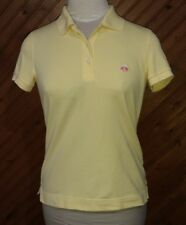 Brooks Brothers 346 Women's Size XS Polo Top Yellow Pink Logo Short Sleeve Nice