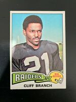 1975 Topps Cliff Branch Rookie Card #524 Raiders !!