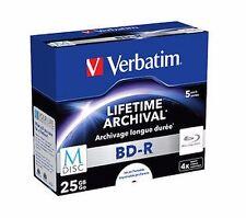 Verbatim M-disc DVD R 4.7gb 5pk JC White Inkjet Printable 4x