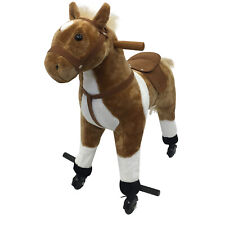 Qaba Kids Children Walking Horse Plush Animal Pony Toy Rider Sound W/ Wheels New