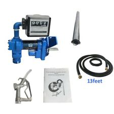 20gpm 12v Dc Gasoline Fuel Petrol Diesel Transfer Pump Kit With Nozzle And Meter