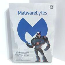 Malwarebytes 1 year, 1 PC Sealed NEW