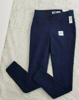 NWT Old Navy sz 0 Super Skinny Blue Jeans Dark Wash with elastic waist