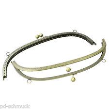 2stk Bronzefarbe Taschenrahmen Taschenbügel Mit Kugel-Verschluß Kiss Clasp Lock