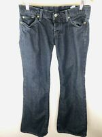 Women's Lucky Brand Starry Night Lil Maggie Low Rise Flared Cuffs Jeans Size 6