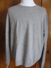 Bloomingdales men chalkboard heather cashmere crewneck sweater XXL NWT