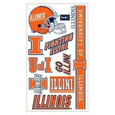 University of illinois Fighting Illini Temporary Tattoos