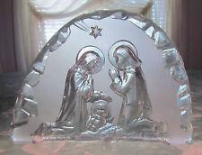 POLISH GLASS BLOCK NATIVITY Scene (Zabkowice)-Joseph, Mary & Baby Jesus