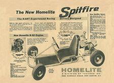 Vintage & Rare 1960 Homelite Spitfire Competition Racing Go-Kart Ad