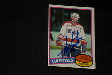 HOF MIKE GARTNER 1980-81 TOPPS ROOKIE SIGNED AUTOGRAPHED CARD #195 CAPITALS