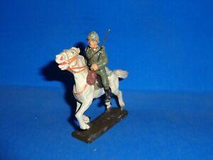 Lineol 7cm Italian Soldier Mounted on a Running Horse Elastolin