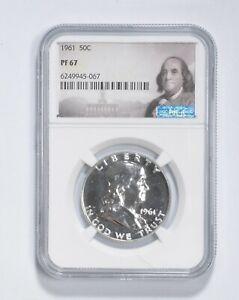 PF67 - 1961 Franklin 90% Silver Half Dollar - NGC *037
