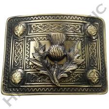 Men's Celta Kilt Cardo Hebilla de cinturón acabado antiguo/Celta Kilt Hebilla de cinturón