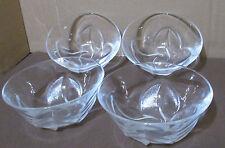 "Cristal d Arques Florence Small Fruit/Desert Bowls - 4-3/4""- Set of 4 - MIB"