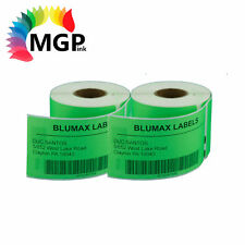 2 rolls of GREEN 99014 NEW Addess labels for DYMO / SEIKO labelwriter 54 x 101mm