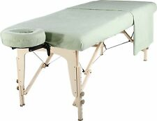 Mt Universal Massage Table Natural Cotton Flannel Sheet set 3 piece Lily Green