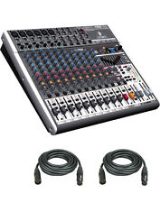 Behringer XENYX X1832USB - 18-Input USB Audio Mixer with Effects & 2 XLR Cables