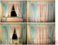 14 COLOURS! AMAZING VOILE NET CURTAINS VARIOUS SIZES READY MADE FOR YOU