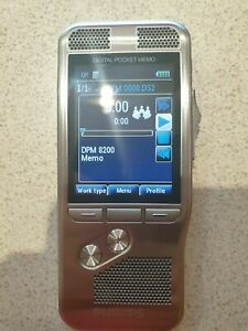 USED Philips DPM8200 Digital Pocket Memo Dictaphone With 8GB card P&P INCL