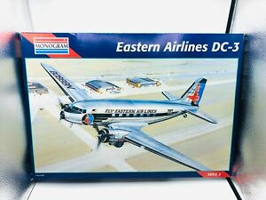NEW Monogram Plastic Model 1:48 Scale Eastern Airlines DC-3 Model Airplane