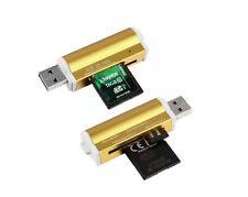 lecteur usb 2.0 multi carte mémoire : Micro SD / TF M2 MMC SDHC MS Duo - OR