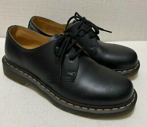 DR MARTENS 1461 Classic Black Smooth Leather Unisex Sz UK6 US 7(M) US 8(L) EU39