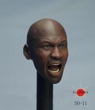 SO-TOYS SO-011 1/6 Basketball Michael Jordan Head Toys Fit 12'' Figure Body