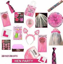 Hen Night Do Party Accessories Sashes Balloons Head Boppers Photo Props Badges