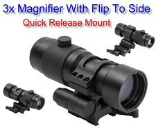 "NcStar 3X Magnifier w/Flip to Side 1.5"" Centerline Height Quick Release Mount"