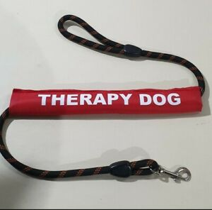 Dog Lead Sleeve red THERAPY DOG