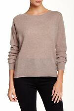 360 Cashmere Lu Women's 100% Cashmere Pullover Sweater in Almond Size M $288